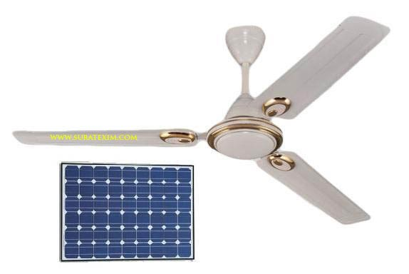 Water Powered Ceiling Fan : Solar ceiling fan dc powered