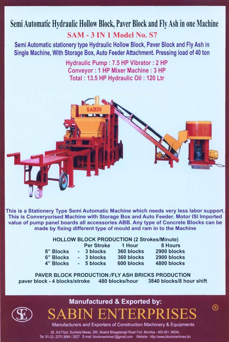 Stationary Type Paver Block Making Machine