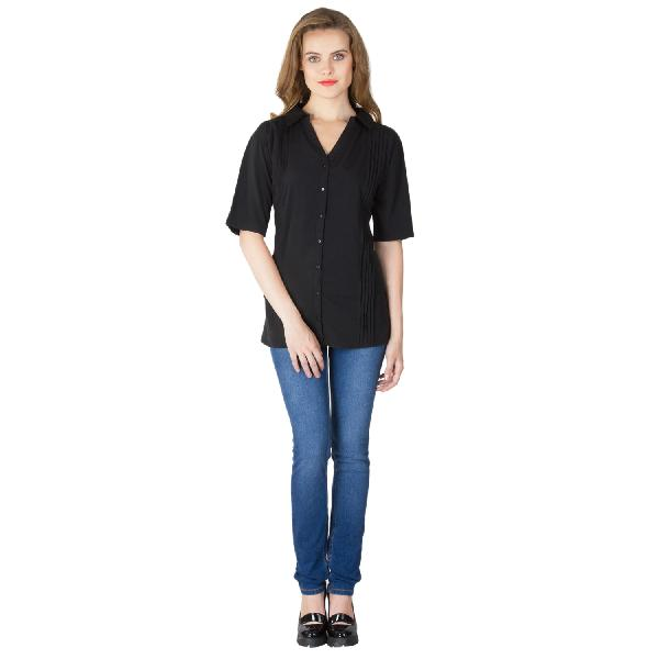 Black Pleated Shirts