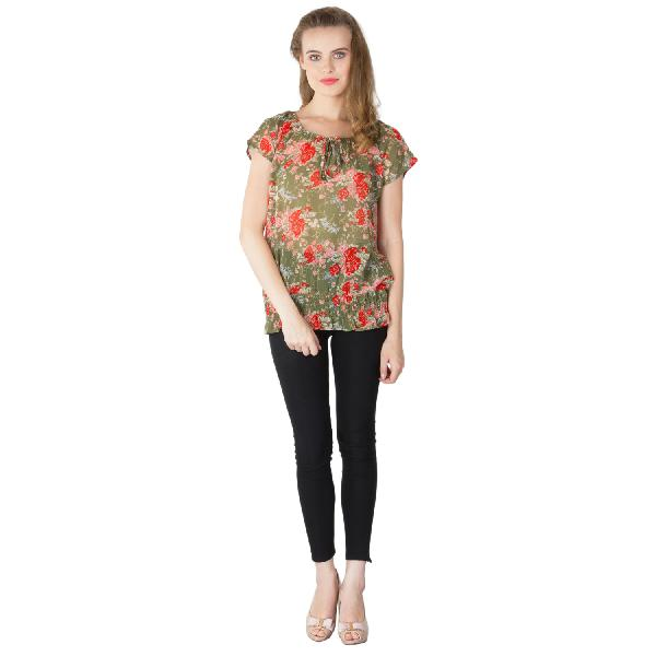 Floral Printed Balloon Tops