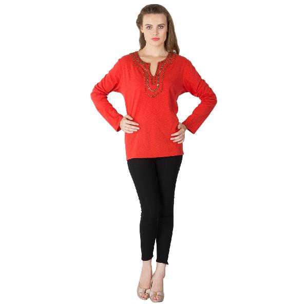 Knitted Cotton Full Sleeve Tops