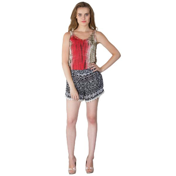 Ladies Border Lace Shorts