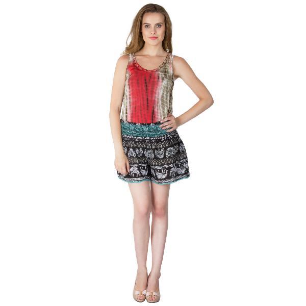 Ladies Ethnic Printed Shorts