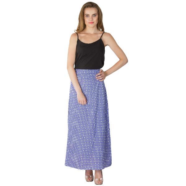 Printed A Line Long Skirts