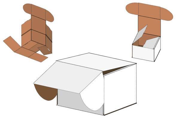 Die Cut Corrugated Paper Boxes