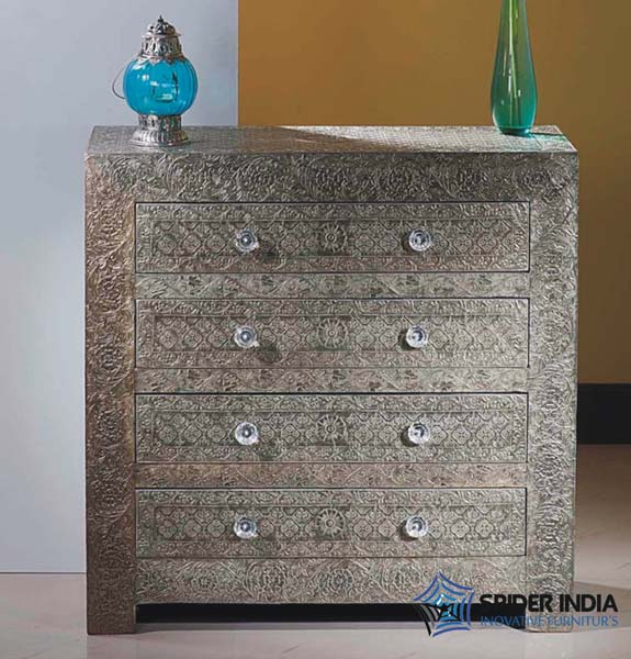 Embossed White Metal Furniture Embossed White Metal Console Table Suppliers