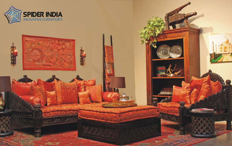 Antique Wooden Carved Sofa Carved Indian Bench Manufacturers