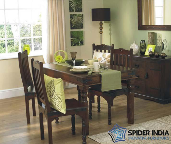 Wooden dining table set sheesham wood