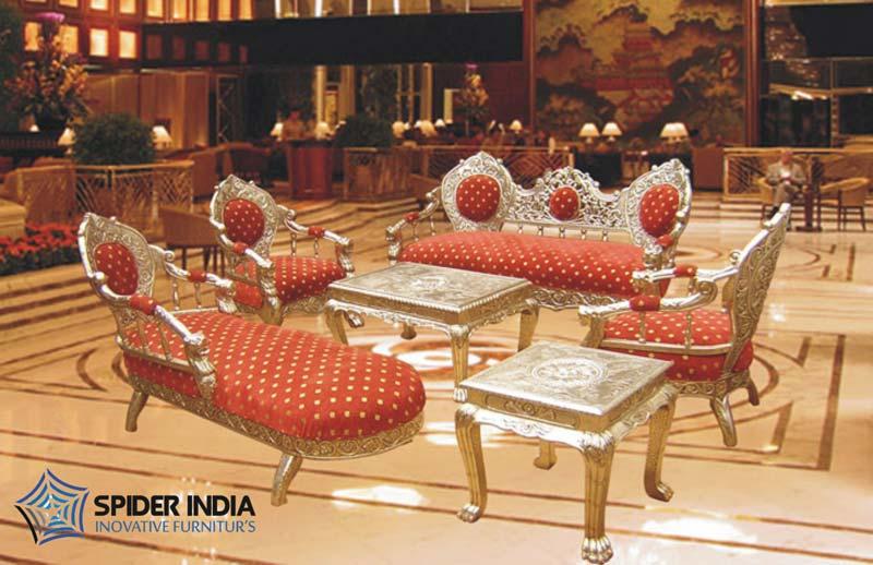 Silver Inlay Royal Sofa SetSilver Inlay Royal Sofa Set Exporter