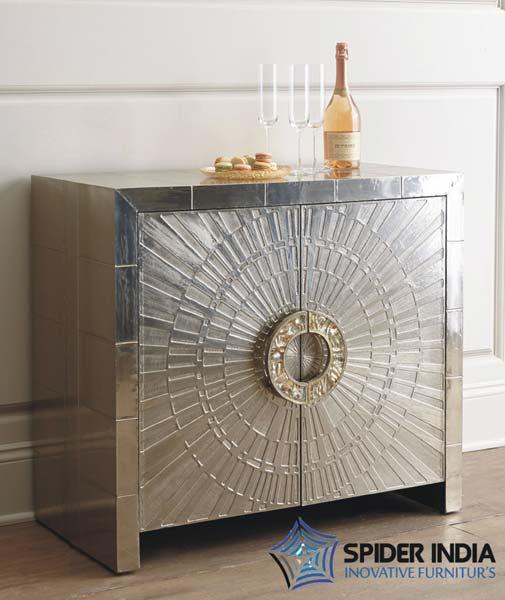 White Metal Furniture White Metal Inlay Cabinet Exporters