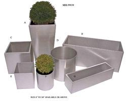 Metal Garden Planters Home Design Ideas And Pictures