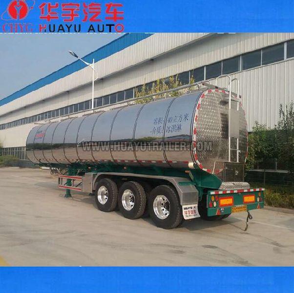 3  axle stainless steel fuel tanker semi trailer