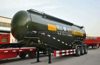 Three Axle Heavy Bulk Powder Material Cement Tanker