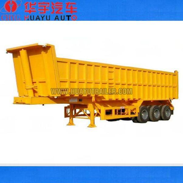 Three Axle dump semi trailer with HYVA  cylinder