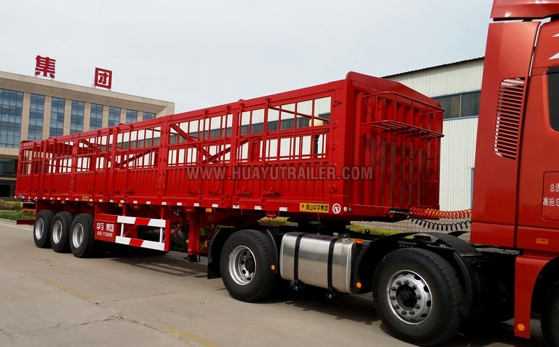 With Drop Axle Semi : Tri axle steel drop side semi trailer feet manufacturers