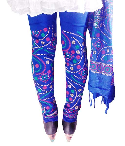 Block Printed Leggings & Dupatta 02