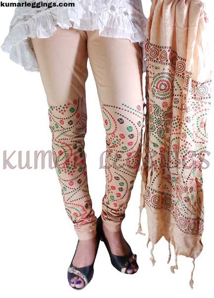 Block Printed Leggings & Dupatta 03