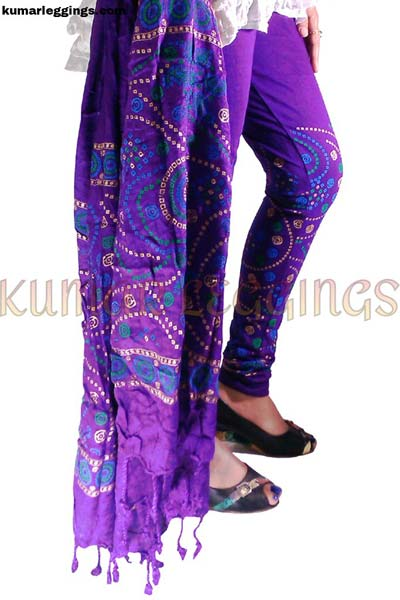 Block Printed Leggings & Dupatta 04
