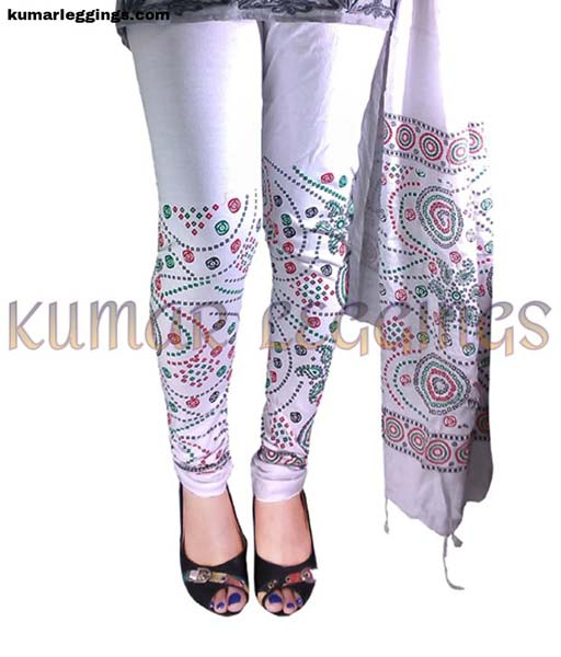 Block Printed Leggings & Dupatta 05