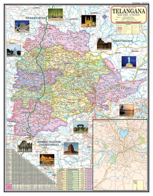18x23 Telangana Maps