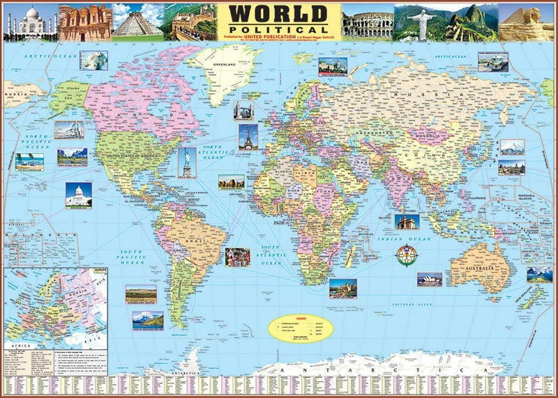 30x40 World Maps