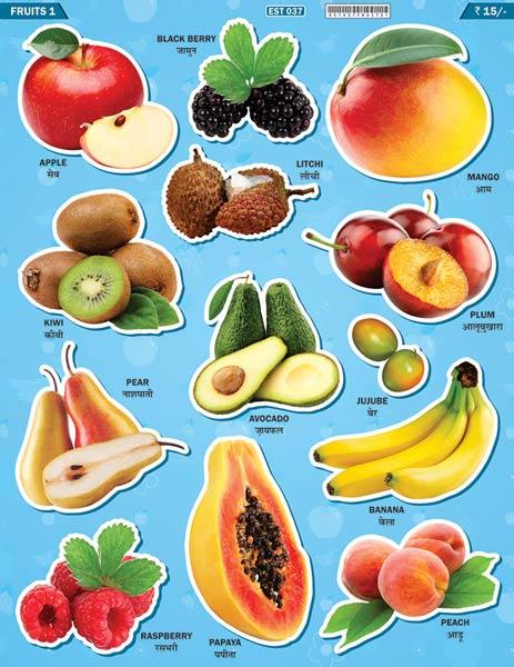Fruit EduStickers