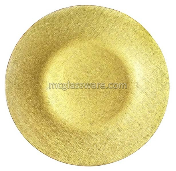 Pamuk Gold Glass Charger Plates