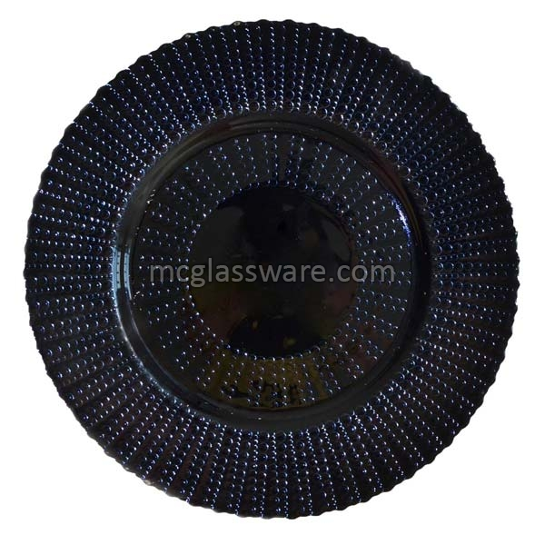 Quantum Black Glitter Glass Charger Plate