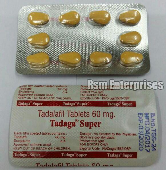 Tadaga Super 60 mg Tablets