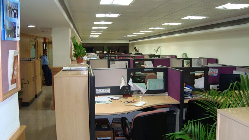 Corporate office interior in chandigarh india for Corporate office interiors
