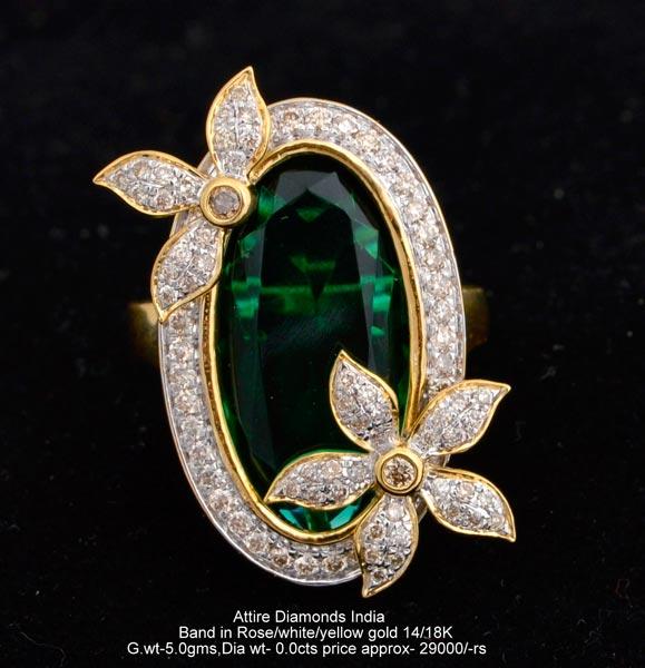 ladies designer diamond rings manufacturer supplier in