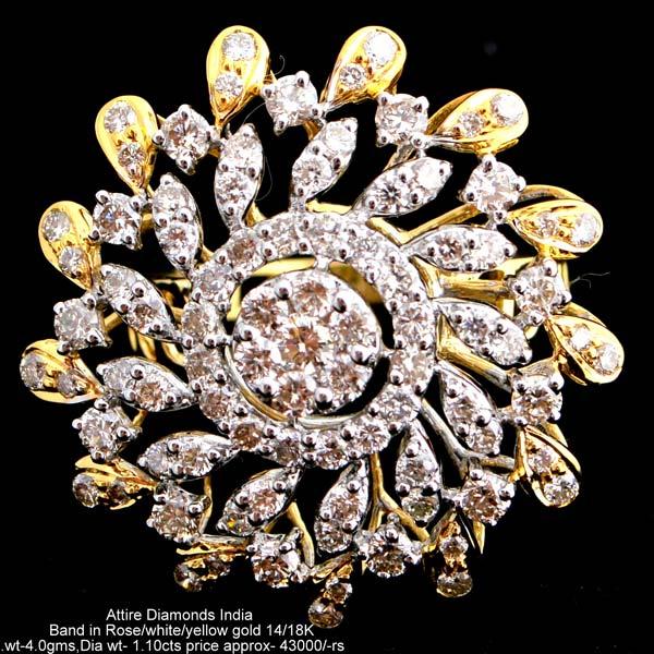 Ladies Party Wear Diamond Rings