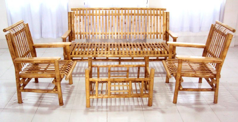 Stupendous Bamboo Sofa Sets Bamboo Living Room Furniture Sets Baci Lamtechconsult Wood Chair Design Ideas Lamtechconsultcom