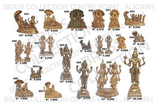 Brass Vishnu Laxmi Statue