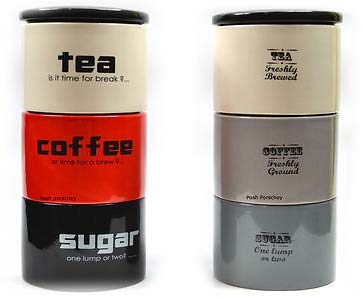 Stackable Tea Coffee Sugar Canisters The Table