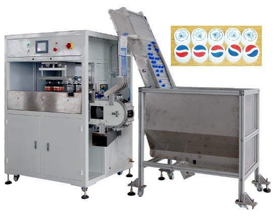 (CMT64) 1-4 color automatic pad printer for caps