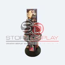 Lipstick Round Shaped Point Of Sales Display Stand