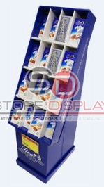 Square Shaped Floor Cardboard Display Stand