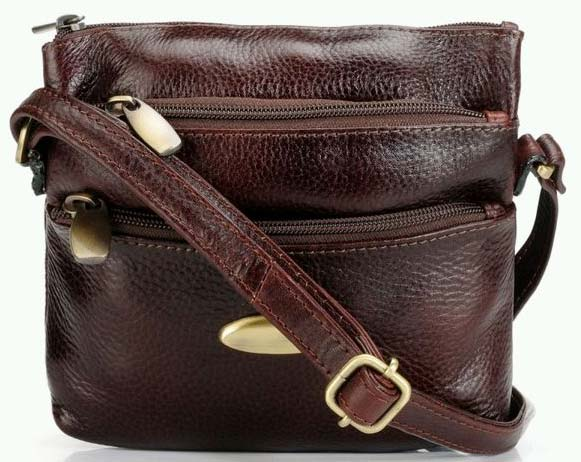 Ladies Teakwood Genuine Leather Sling BagsBags Suppliers