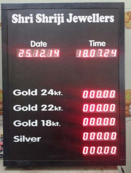 Jewellery Rate LED Display Boards