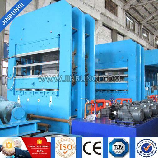 Frame Structure Rubber Casters Platen Vulcanizing Press