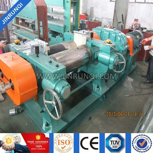 XK-450 Double Shaft Rubber Two Roll Mixing Mill With Automatic Stock B