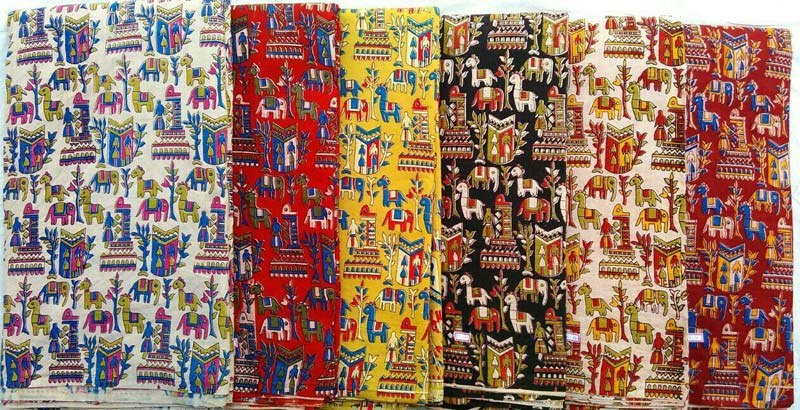 Kalamkari Fabric Kalamkari Silk Fabric Supplier Machilipatnam