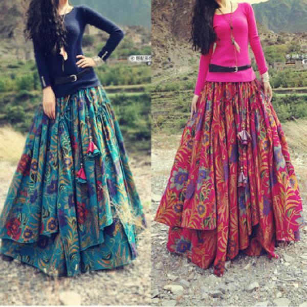 Ladies Long Skirt,Womens Long Skirts Suppliers Gujarat
