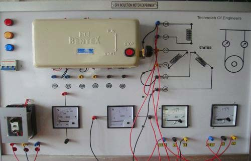 Load Test Three Phase Induction Motor Study Control Panel