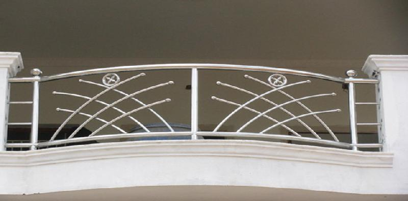 Stainless steel balcony grills manufacturer supplier in for Balcony steel grill design