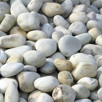 Snow White Pebbles Stone