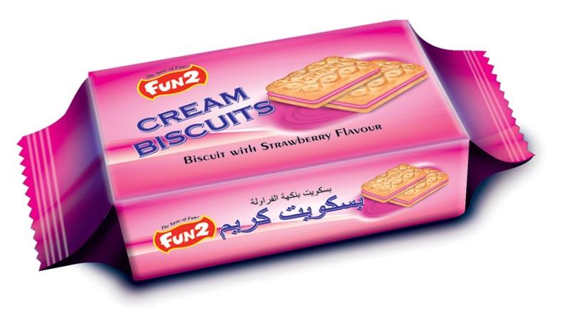 Strawberry Cream Biscuits (22 GM)