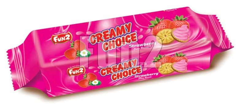 Strawberry Cream Biscuits (180GM)