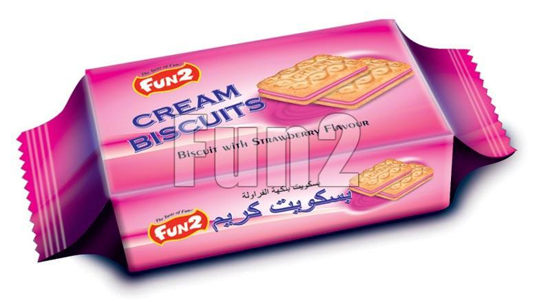 Strawberry Cream Biscuits (22 GM)